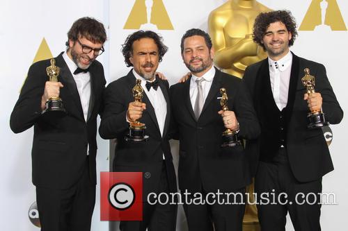 Nicolas Giacobone, Alejandro Gonzalez Inarritu, Alexander Dinelaris and Armando Bo 1