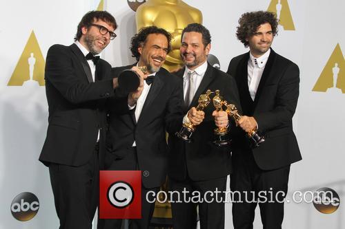 Nicolas Giacobone, Alejandro Gonzalez Inarritu, Alexander Dinelaris and Armando Bo 6