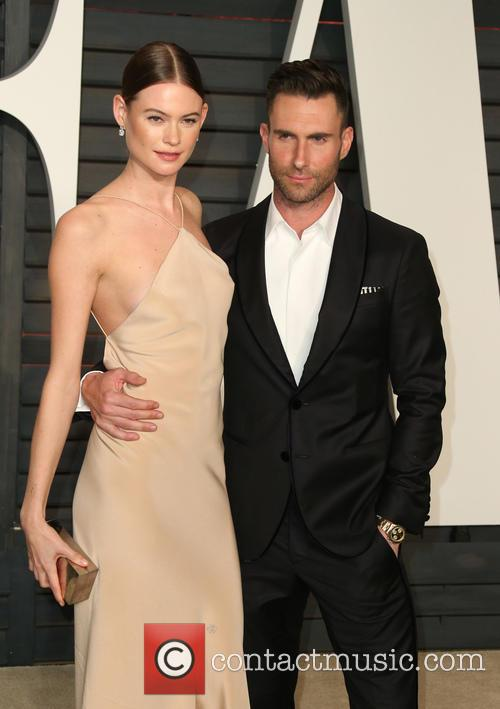 Adam Levine and Behati Prinsloo 2