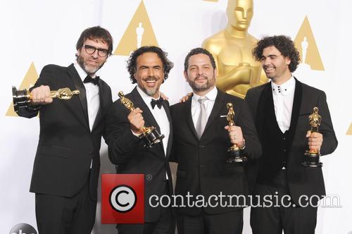 Alejandro G. Inarritu, Alexander Dinelaris, Nicolas Giacobono and Armando Bo 5