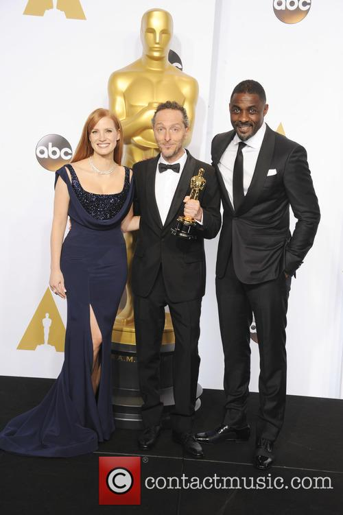 Emmanuel Lubezki, Jessica Chastain and Idris Elba 3