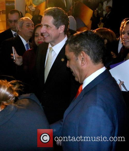 Andrew Cuomo, Andrew Couomo and Adriano Espaillat 8