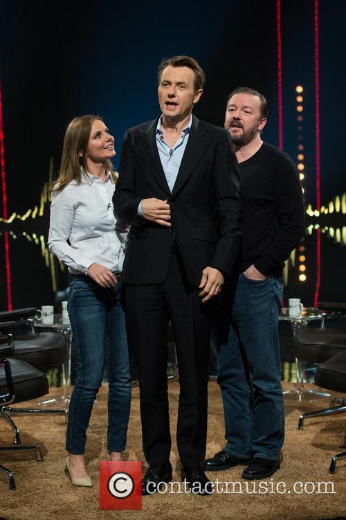 Geri Halliwell, Fredrik Skavlan and Ricky Gervais 10