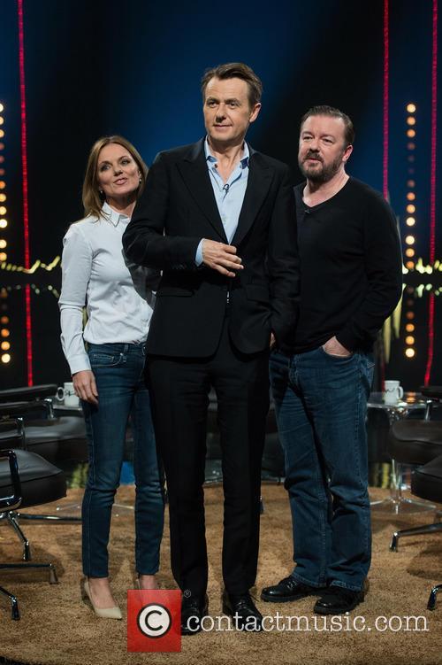 Geri Halliwell, Fredrik Skavlan and Ricky Gervais 11