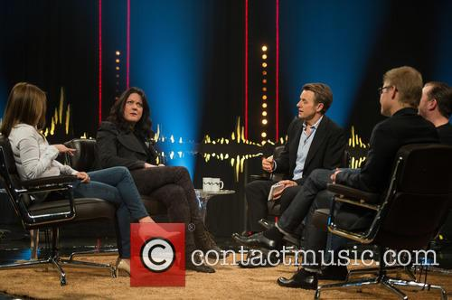 Geri Halliwell, Helen Macdonald, Fredrik Skavlan, Ricky Gervais and Magnus Falkehed 8