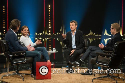 Niclas Hammarström, Geri Halliwell, Fredrik Skavlan and Magnus Falkehed 6