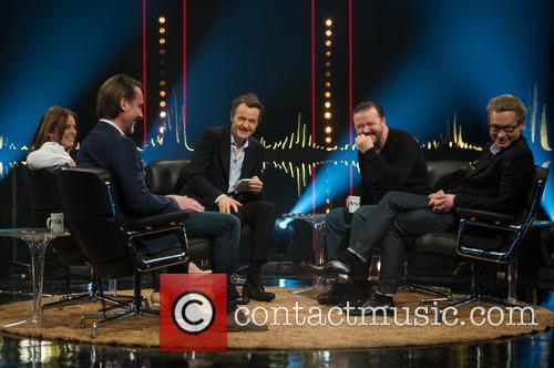 Ricky Gervais, Magnus Falkehed, Fredrik Skavlan, Geri Halliwell and Niclas Hammarström 7