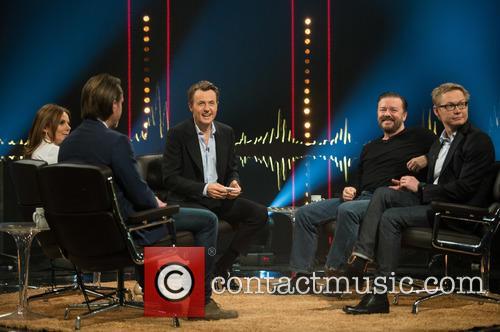 Ricky Gervais, Magnus Falkehed, Fredrik Skavlan, Geri Halliwell and Niclas Hammarström 8