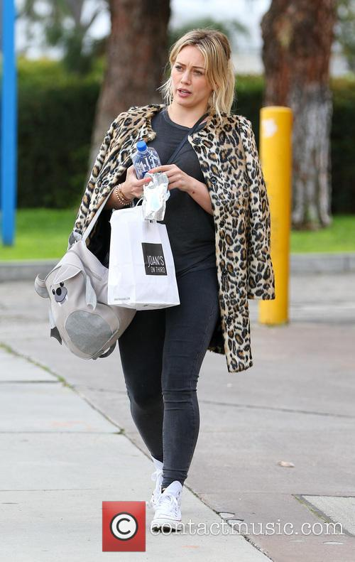 Hilary Duff takes her son Luca to lunch...