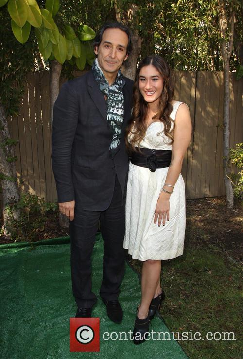 Alexandre Desplat and Q'orianka Kilcher 4