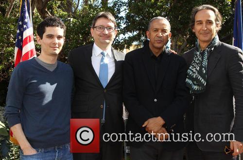 Damien Chazelle, Mr. Axel Cruau, Abderrahmane Sissako and Alexandre Desplat 2