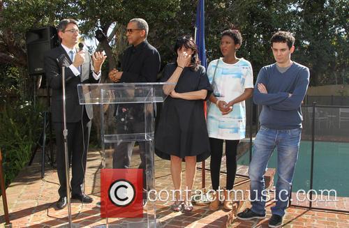 Mr. Axel Cruau, Abderrahmane Sissako, Kessen Tall, Sylvie Pialat and Damien Chazelle 11