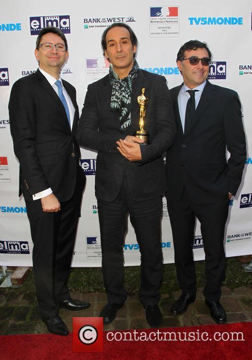 Mr. Axel Cruau, Alexandre Desplat and Marco Mavilla 2