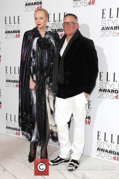 Gwendoline Christie and Giles Deacon