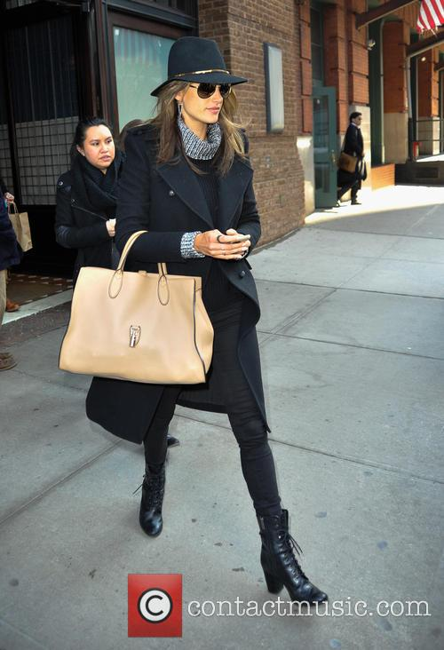 Alessandra Ambrosio leaving her hotel in New York