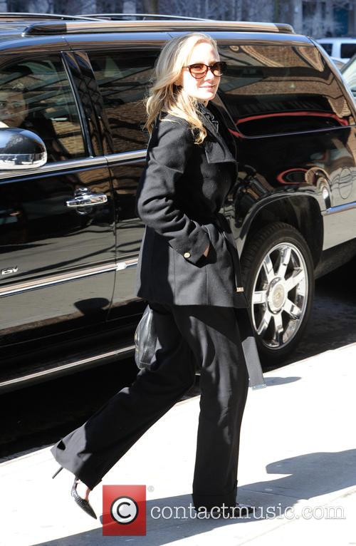 Anne Heche entering her hotel in New York