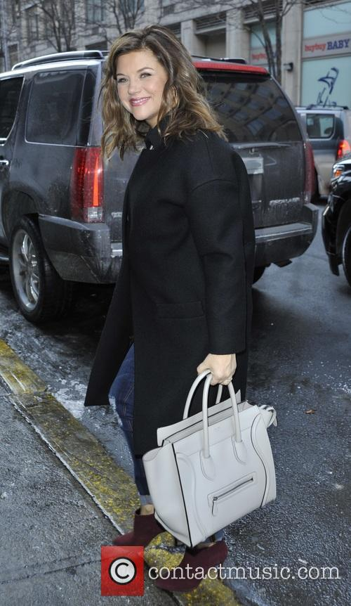 Tiffani Thiessen arrives for 'The Rachael Ray Show'