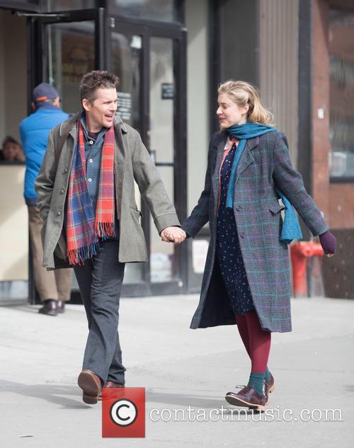 Ethan Hawke and Greta Gerwig 10