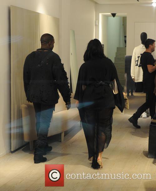Kanye West and Kim Kardashian West 7