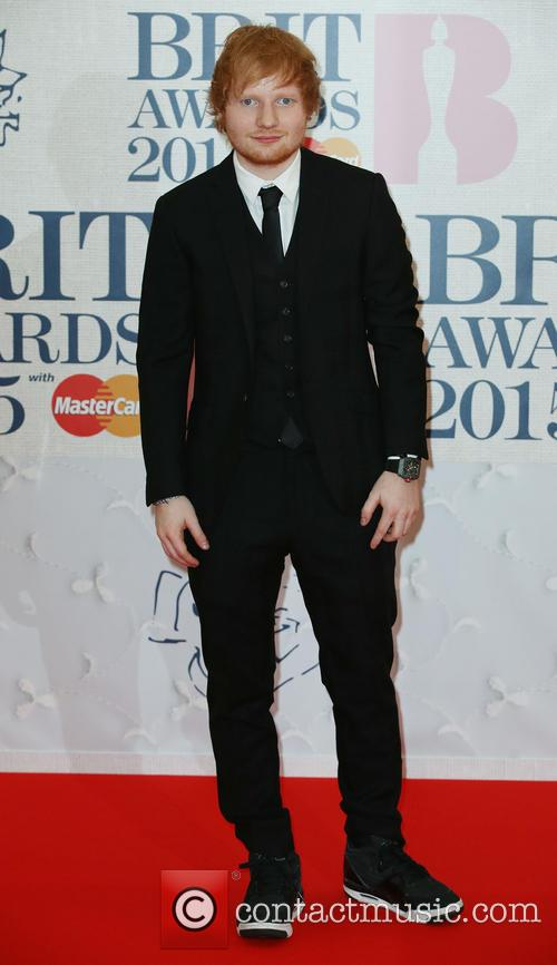 Ed Sheeran at the 2015 Brit Awards