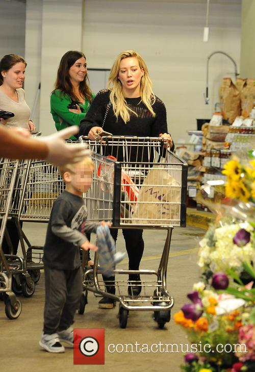 Hilary Duff and her son Luca Comrie have...