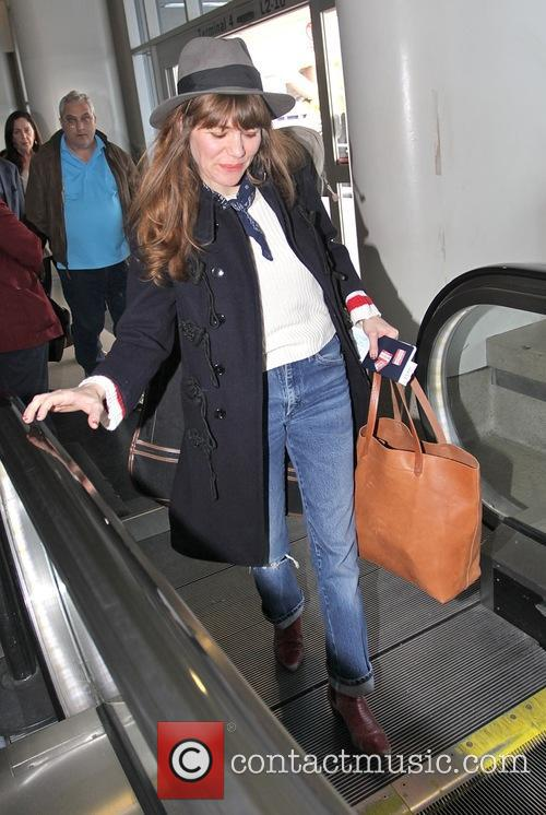 Jenny Lewis departs from Los Angeles International Airport...