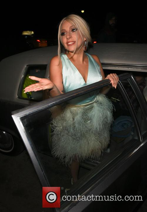 Lady Gaga spotted leaving her home in New...