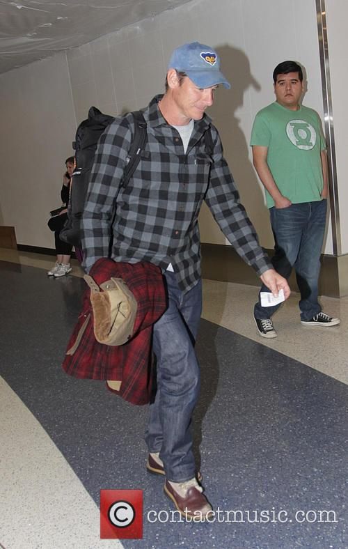 Ty Pennington departs from Los Angeles International Airport...