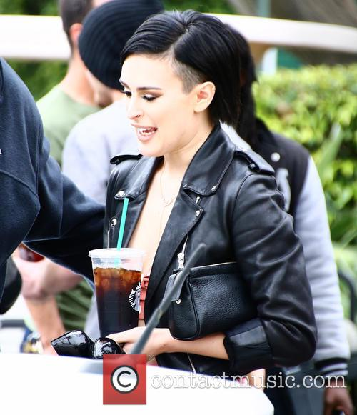 Rumer Willis is interviewed by Mario Lopez at...