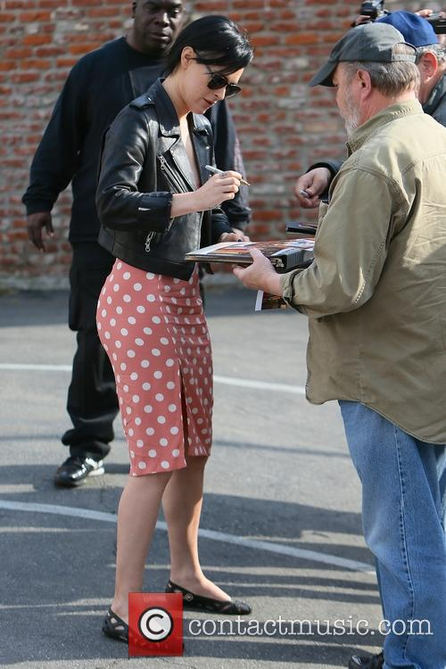 Rumer Willis arrives for dance rehearsal for 'Dancing...