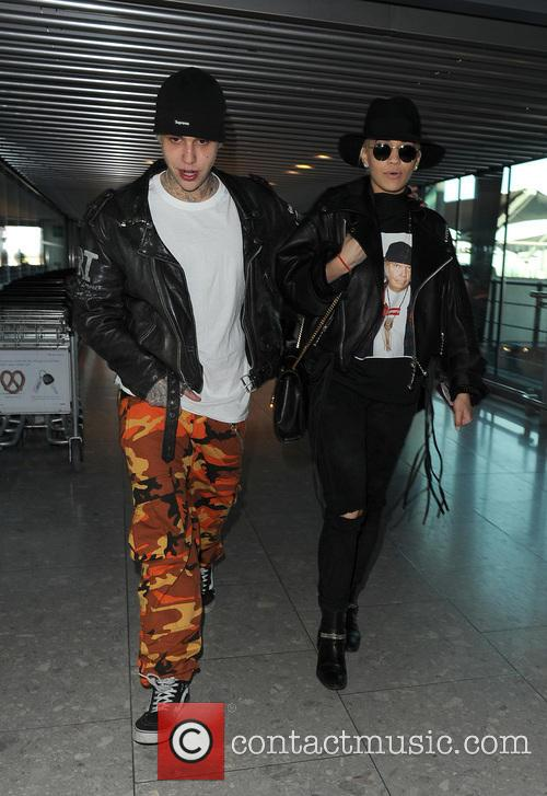 Rita Ora and boyfriend Ricky Hilfiger arrive at...