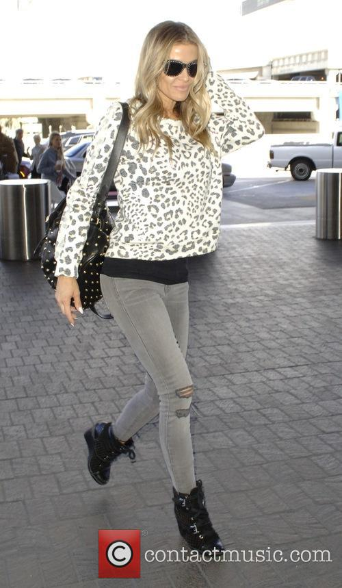 Carmen Electra arrives at Los Angeles International Airport...