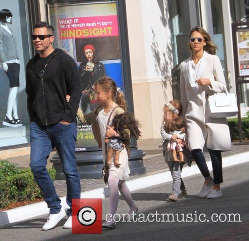 Jessica Alba, Cash Warren, Haven Garner Warren and Honor Marie Warren 2