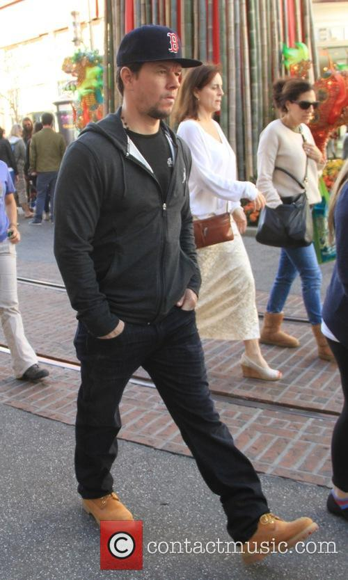 Mark Wahlberg goes shopping at The Grove