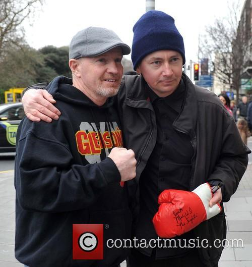 Retired American boxer Micky Ward arrives at the...