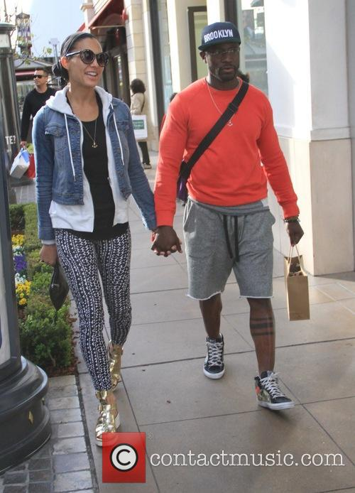 Taye Diggs goes shopping with his girlfriend at...
