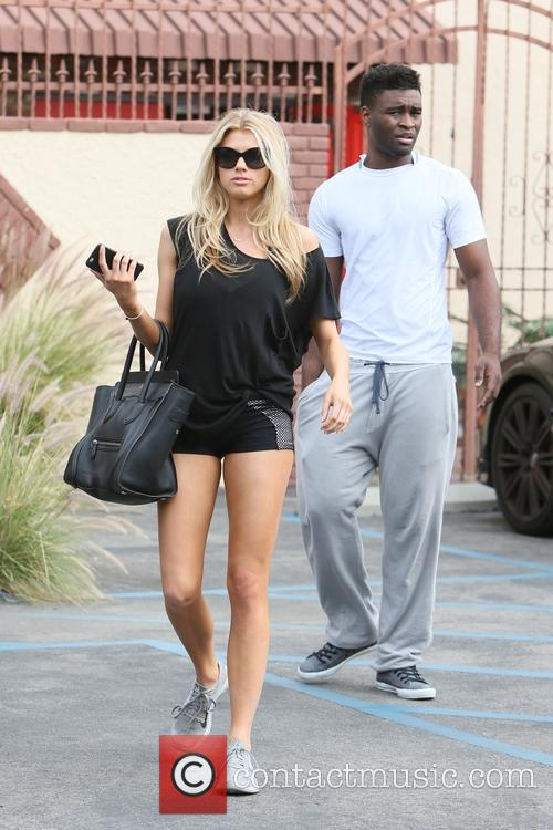 Charlotte McKinney leaves dance rehearsal for 'Dancing with...