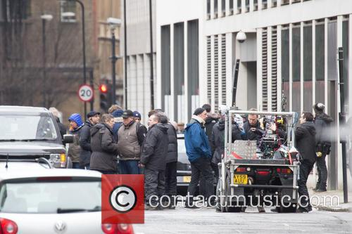 'London Has Fallen' stunt scenes filming in East...