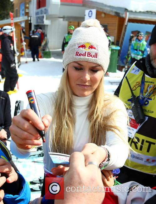 Lindsey Vonn after the first run FIS Alpine...