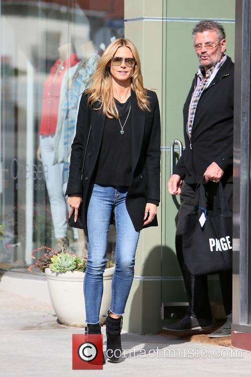 Heidi Klum goes shopping at Paige