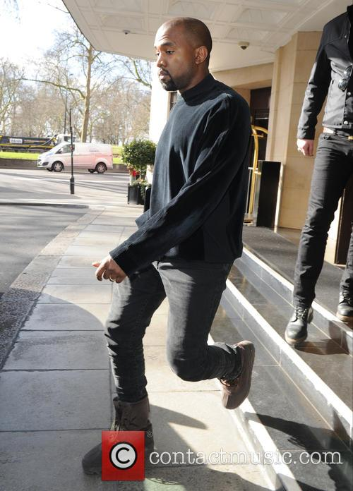 Kanye West  out in London