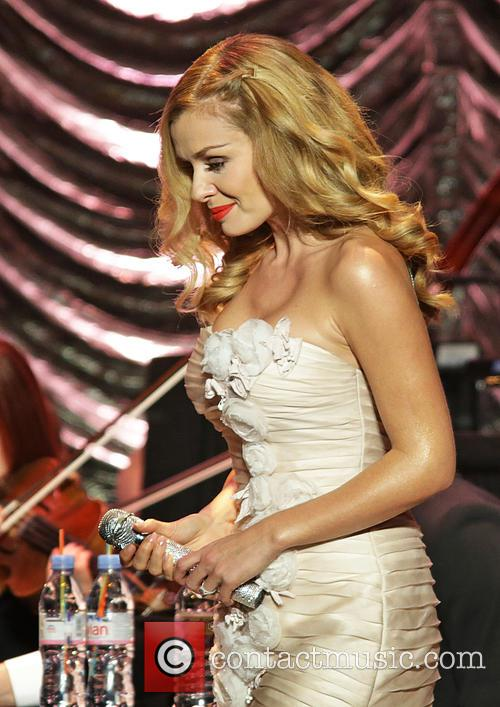 Katherine Jenkins performing at the Liverpool Philharmonic Hall