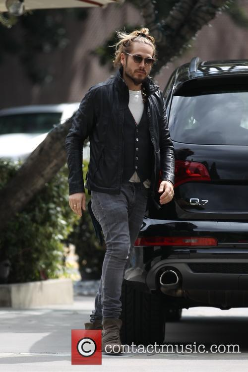 Marco Perego arrives for lunch with Zoe Saldana