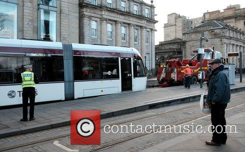 Two trams break down in Edinburgh City Centre