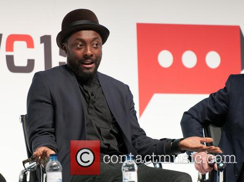 Will.i.am attends a conference at the Mobile World...