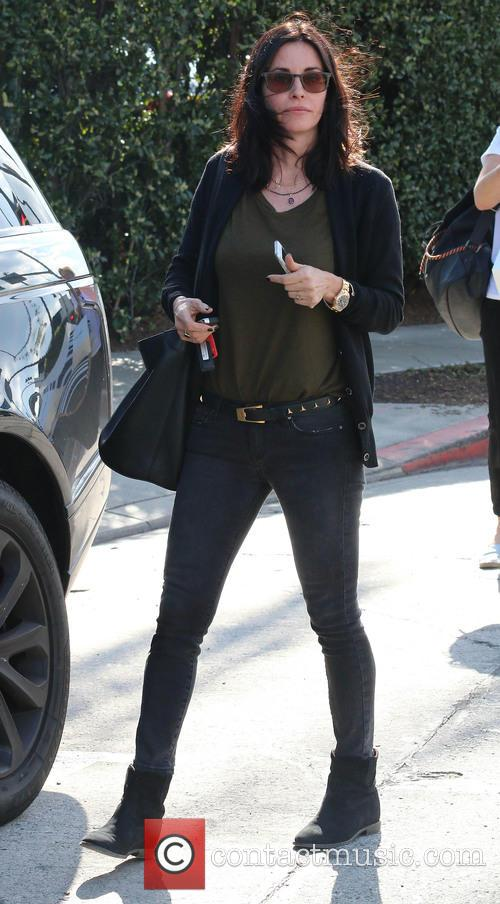 Courteney Cox arriving for a lunch meeting