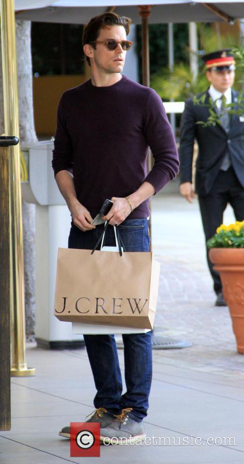 Matt Bomer goes shopping at The Grove