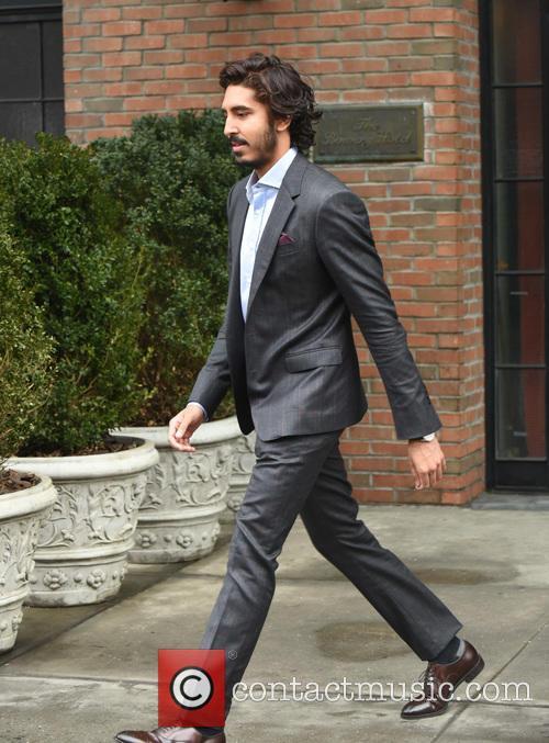 Dev Patel leaving his hotel in New York