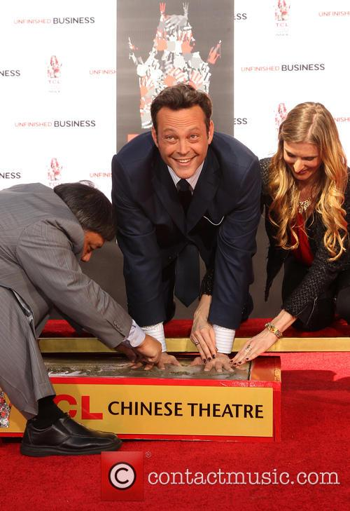 Vince Vaughn became park of the Hollywood Walk of Fame