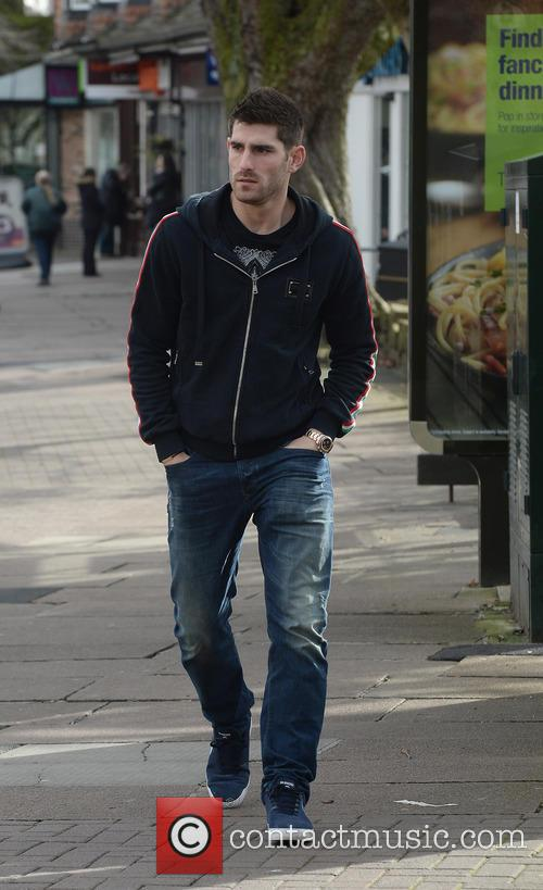 Footballer Ched Evans taking a stroll through Hale...